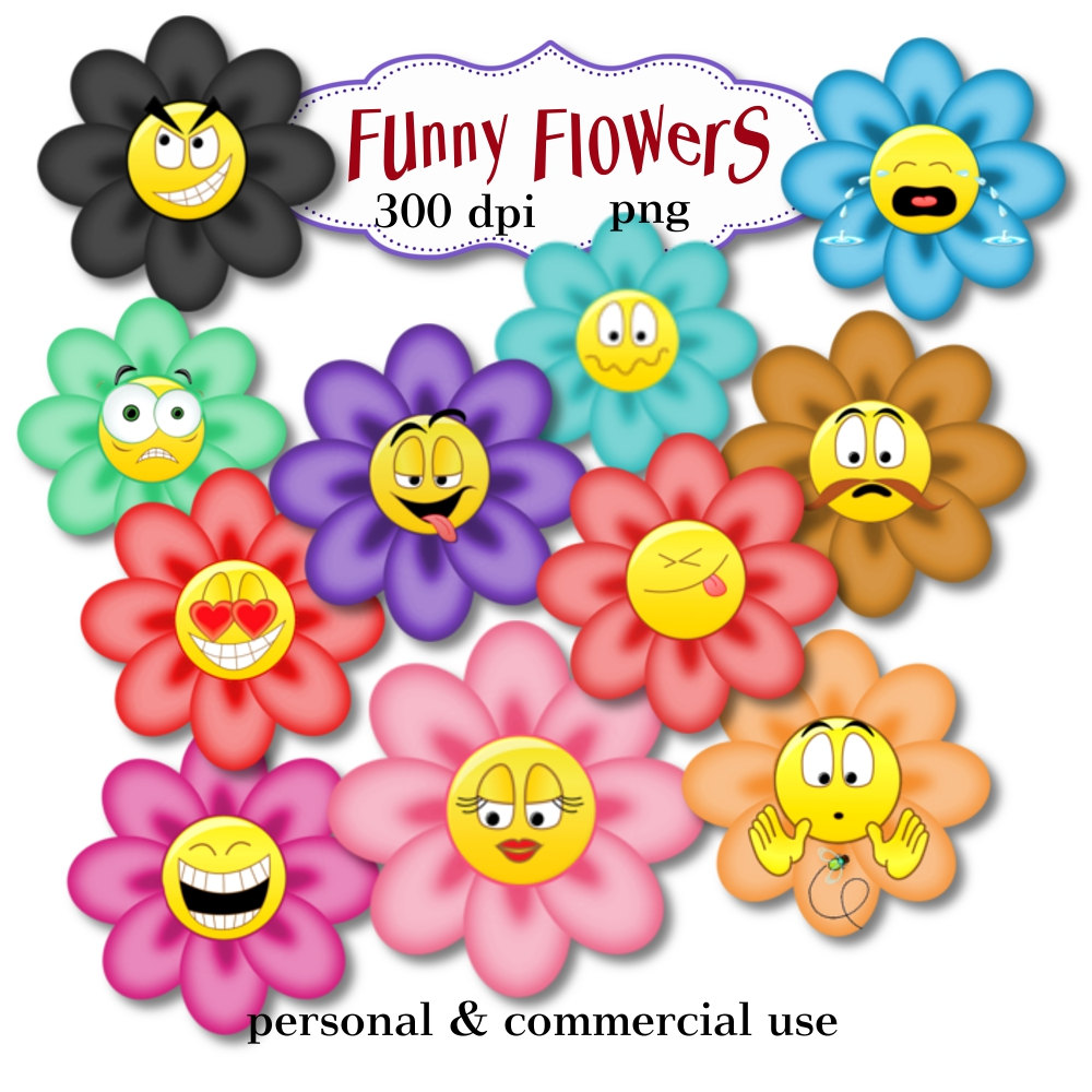 Free Funny Flowers Cliparts, Download Free Clip Art, Free Clip Art.