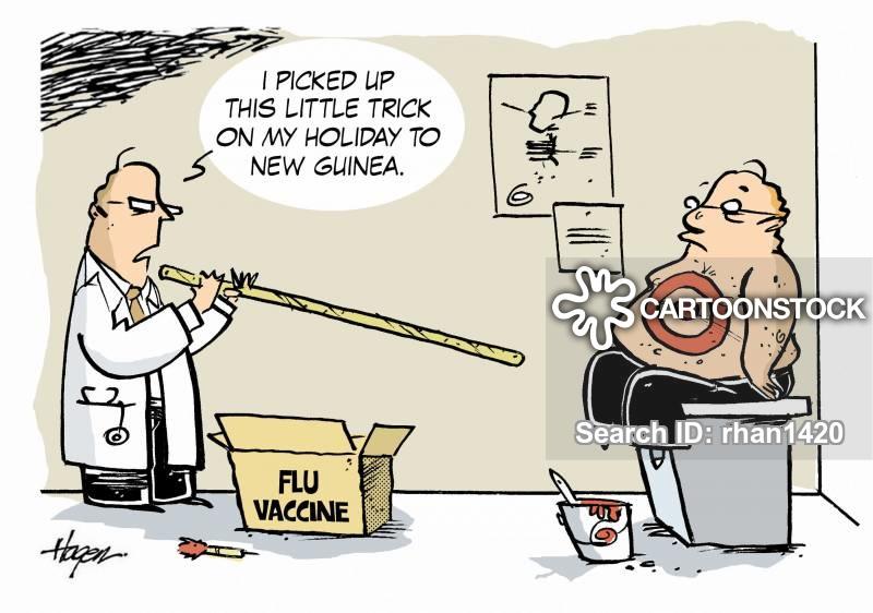 Flu Shots Cartoons and Comics.