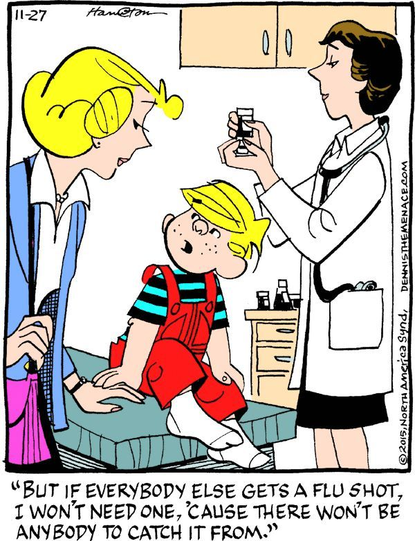 Image result for funny cartoon about flu shots.