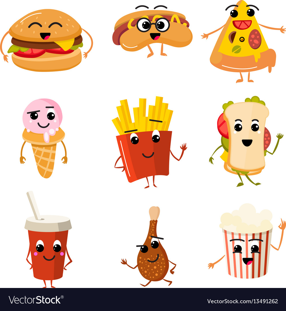 Funny fast food characters.