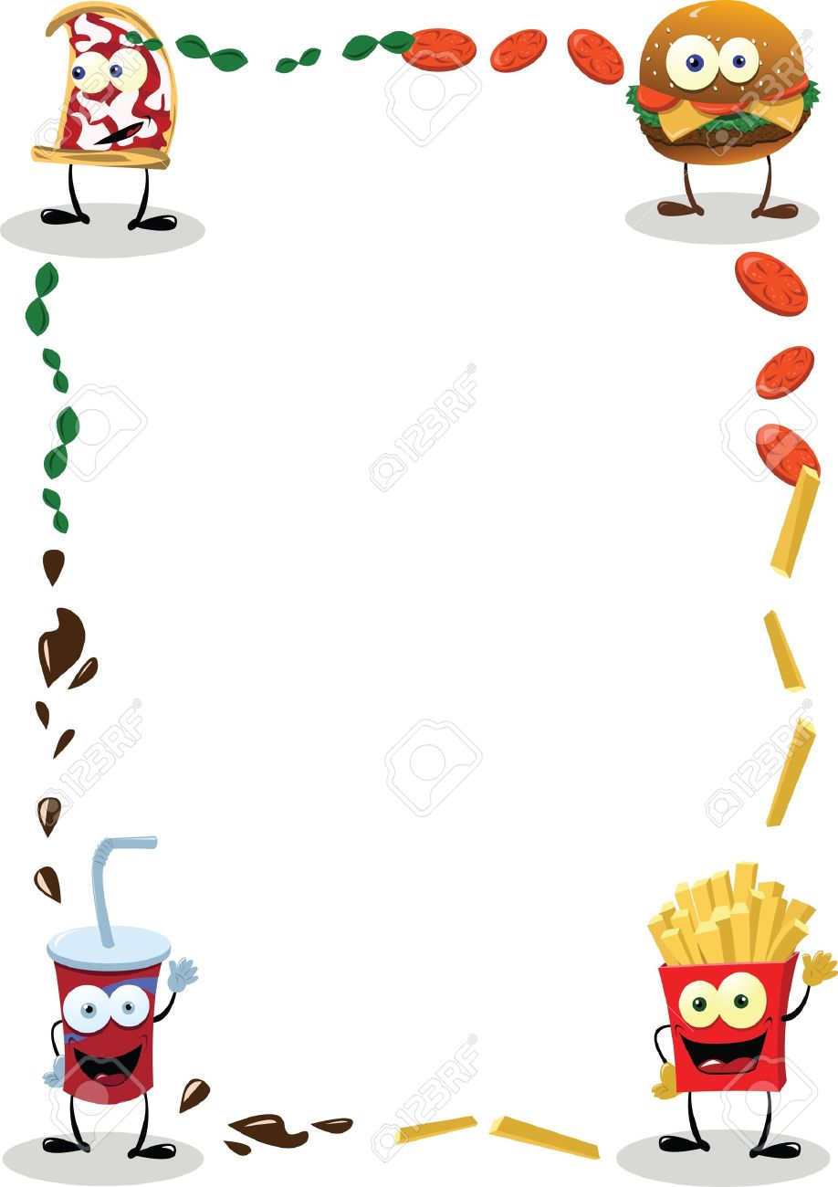 a funny food frame, useful for menus.