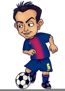 Funny Football Player Clipart.