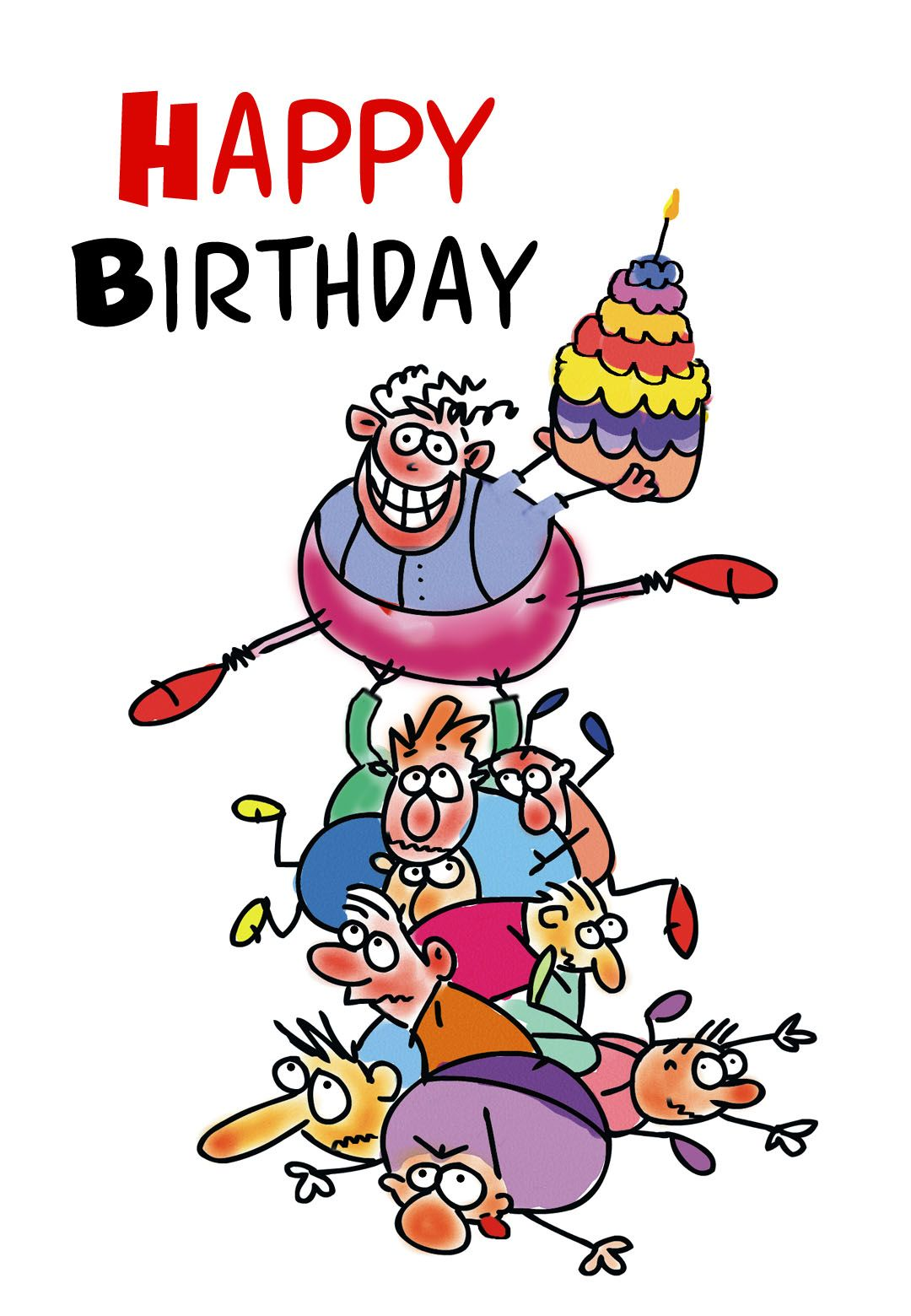 Free Printable Funny Birthday Greeting Card.