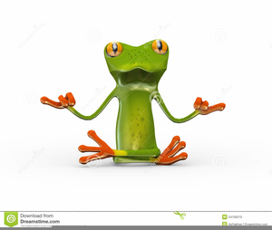 Funny Frog Clipart.