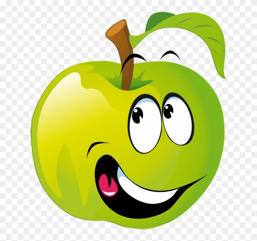 Apfel Mit Smiley.
