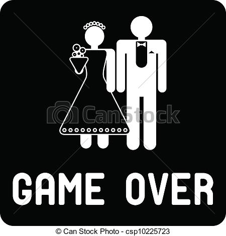 Funny Game Wedding Clipart.
