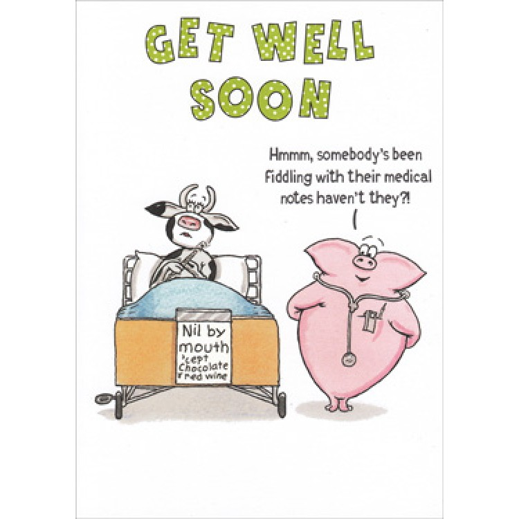Paperlink Funny Farm Get Well Soon Card.