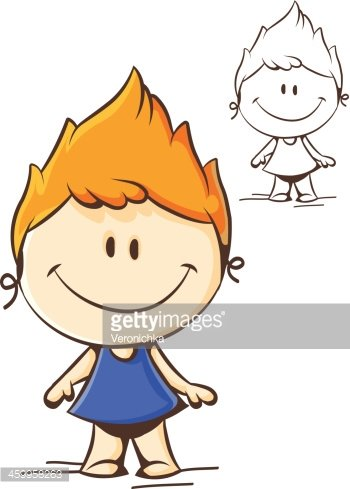 little funny girl Clipart Image.