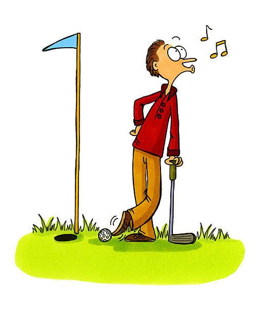 Best Golf Funny Illustrations, Royalty.