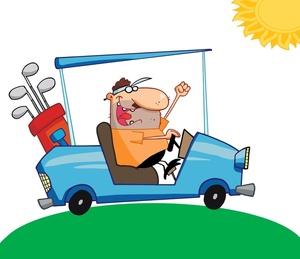 Funny Golf Cartoons Clipart.