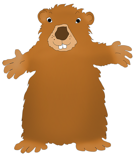 Funny Groundhog Clipart.