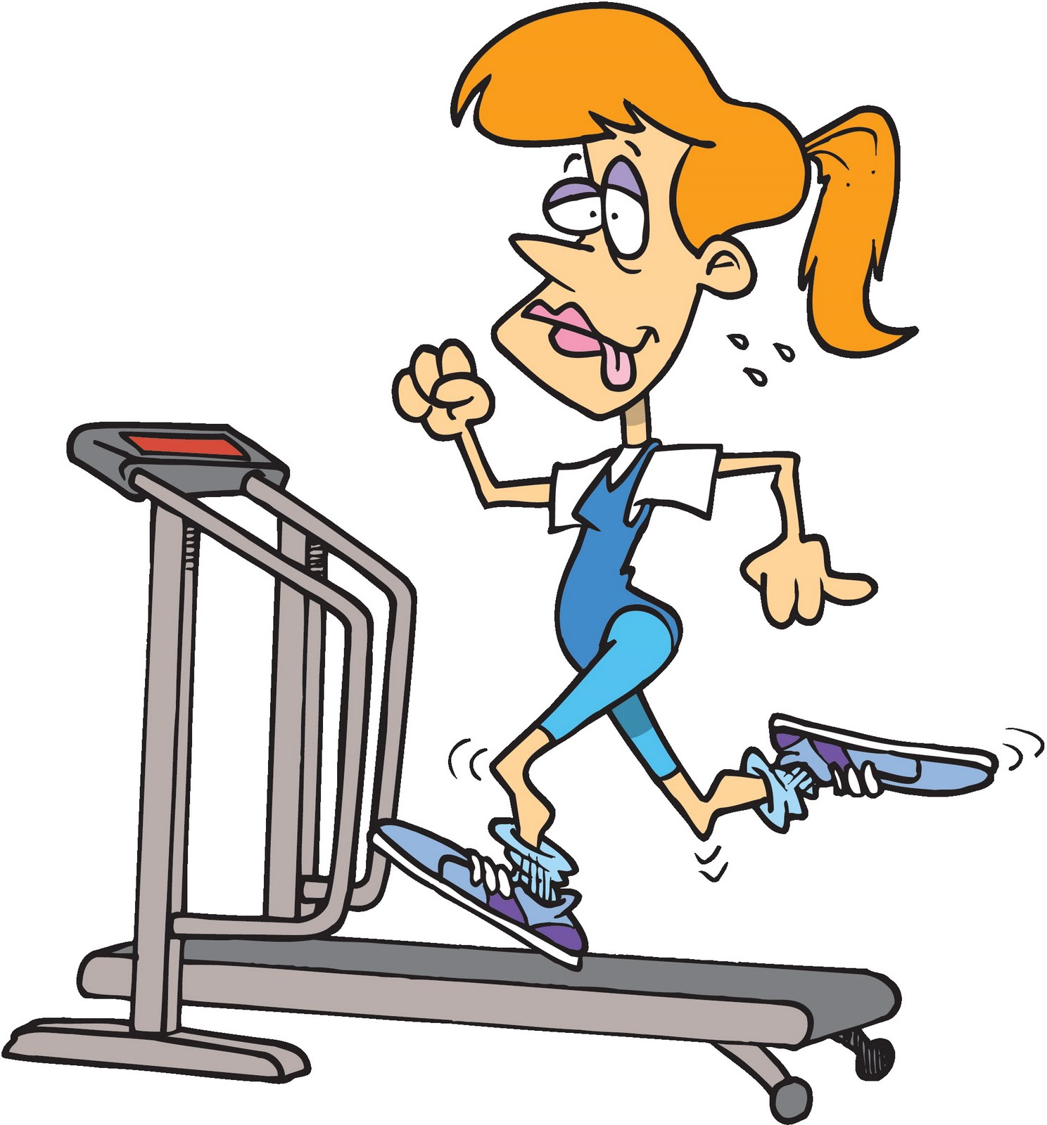 Funny workout clipart.
