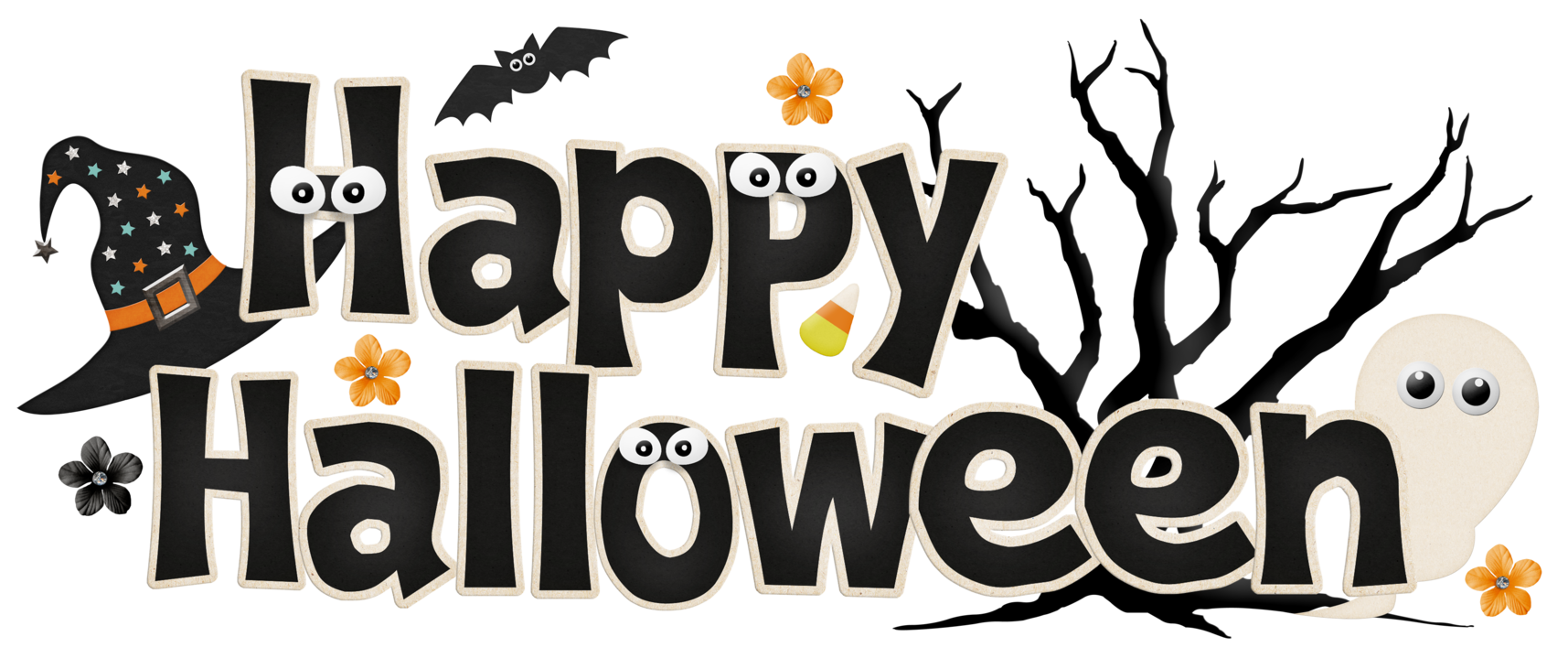 Funny Happy Halloween Clipart.