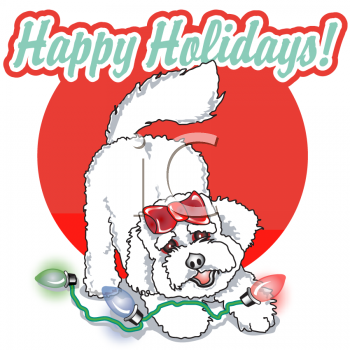 Clipart Christmas Happy Holiday Sign.