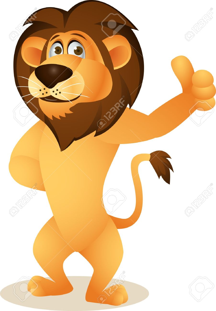 Funny Lion Cartoon Royalty Free Cliparts, Vectors, And Stock.