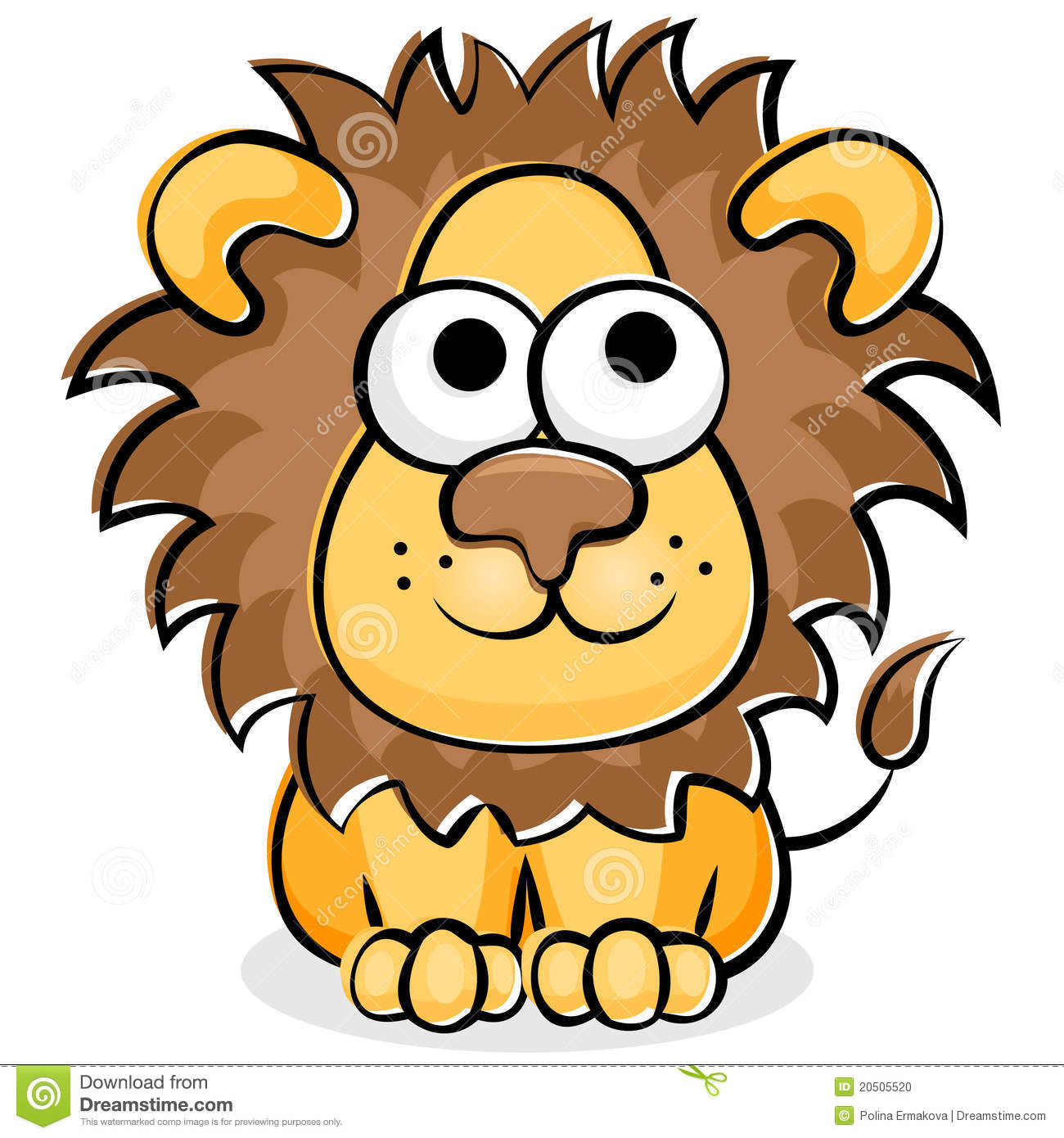 Funny Lion Stock Photo.