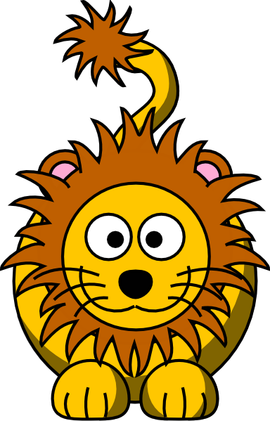 Funny Lions Clipart.