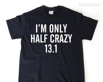 Half marathon shirts.