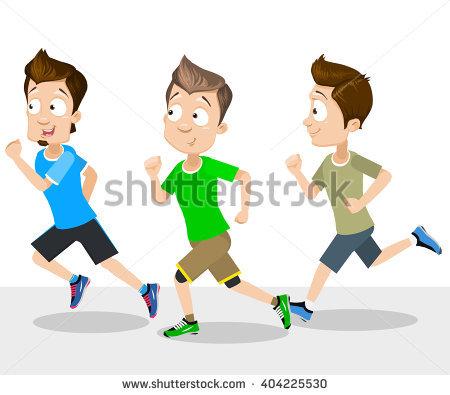 Showing post & media for Guys running cartoon.