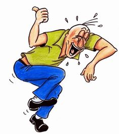Funny man oy clipart running.