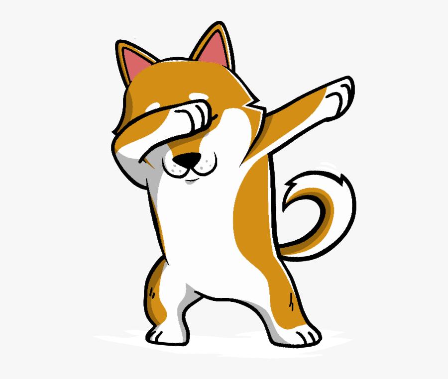 Shiba Inu Dabbing Color Changing Mug Funny Doge Meme.