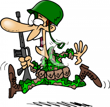 Funny Army Cartoon Images.