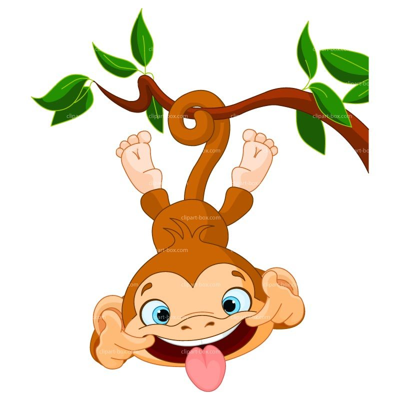 Funny monkey clipart » Clipart Portal.
