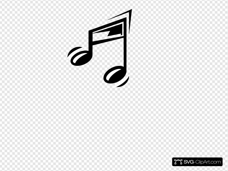 Funny Music Note Clip art, Icon and SVG.