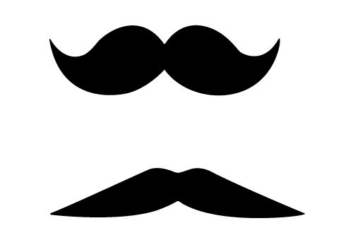 Funny Free Mustache Vector Images for Download.