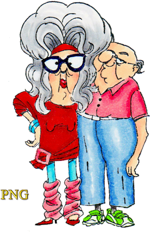 Download Funny Old People Vector Clipart.