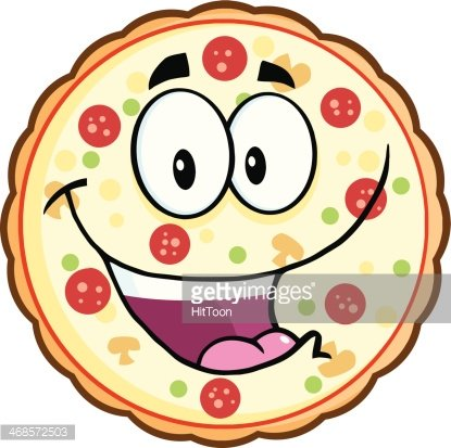 Funny Pizza premium clipart.