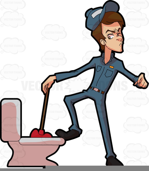 Funny Plumber Clipart.