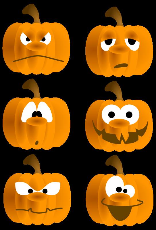 Clipart Of Funny Pumpkin Faces.