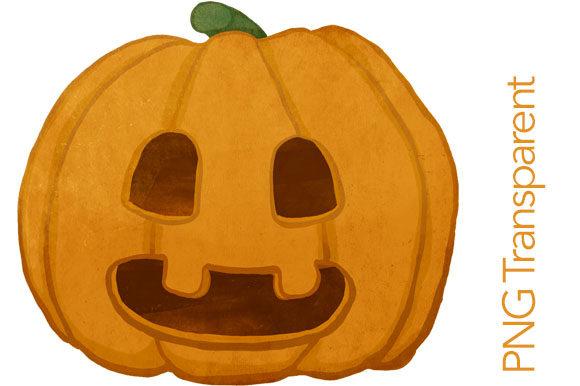 Funny Halloween Pumpkin Clipart.