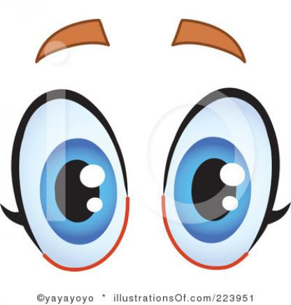 Person With Funny Eyes Clipart.