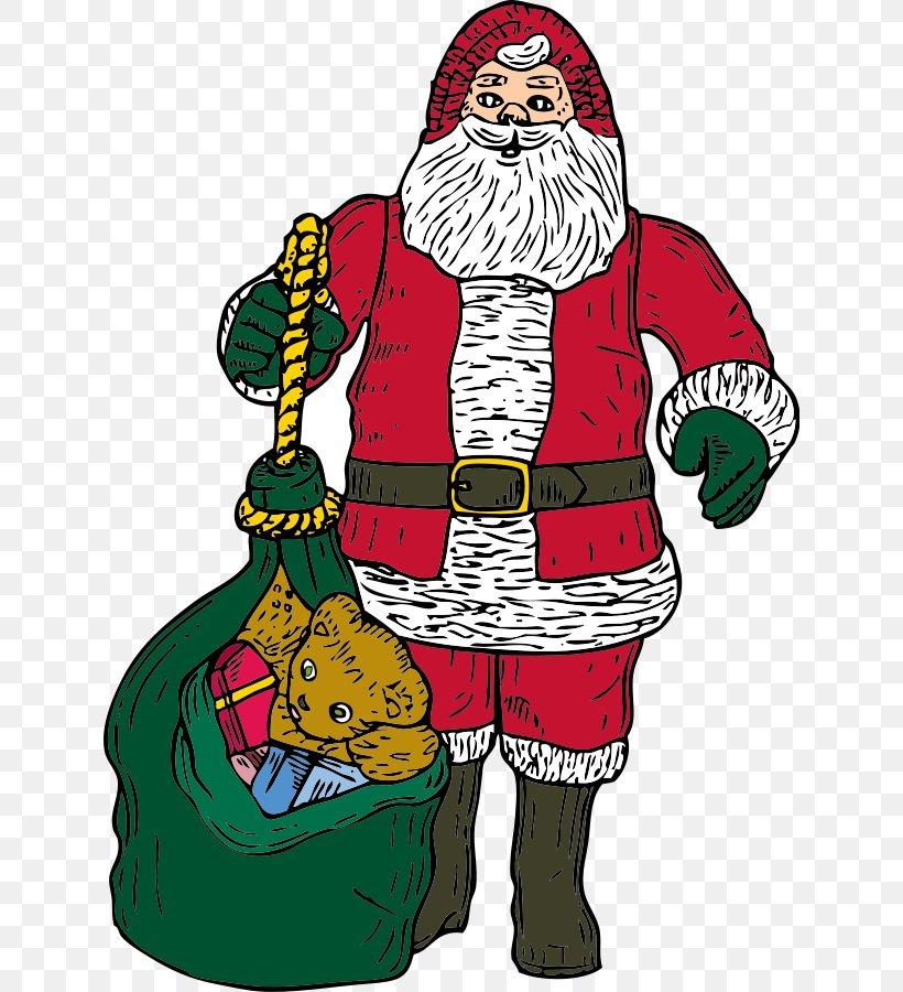 Santa Claus Bag Clip Art, PNG, 632x900px, Santa Claus, Art.