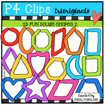 2D FUN Dough Shapes (P4 Clips Triorignals Clip Art).