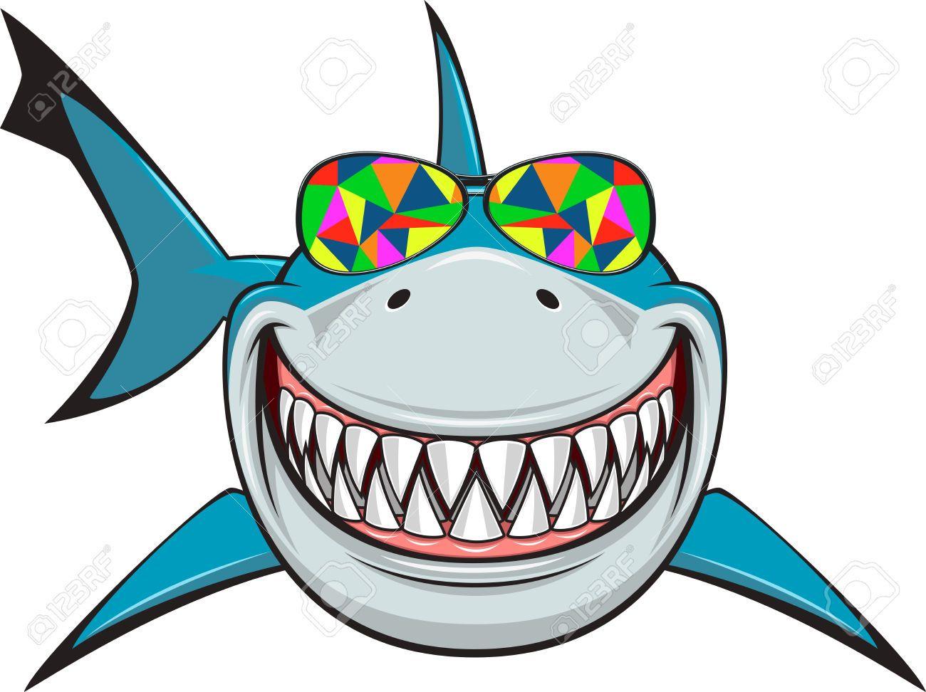Resultado de imagen de funny shark face clipart.