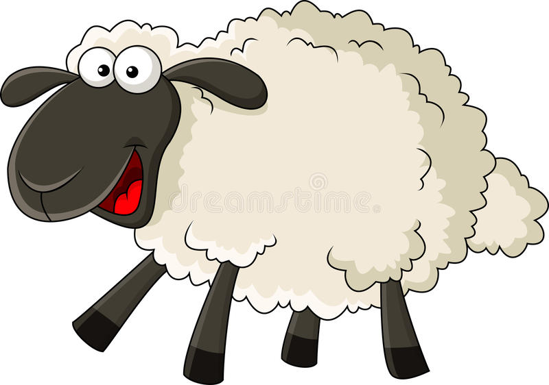 Funny Sheep Clipart.
