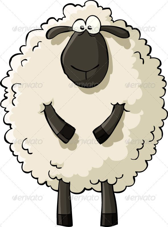 Funny sheep clipart clipartfest.