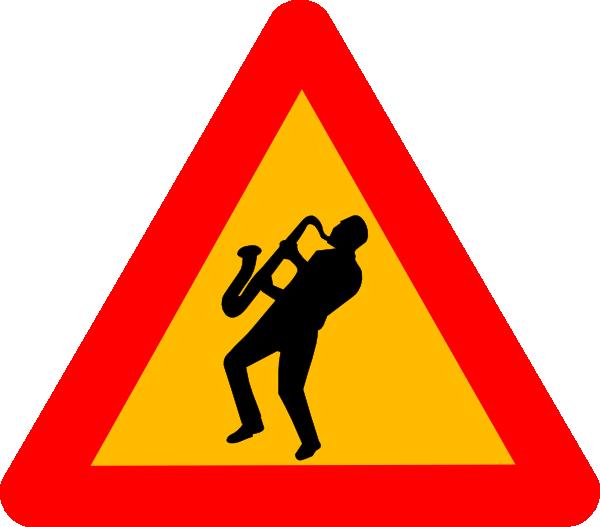 Jazz Musician Road Sign Triangle Clip Art at Clker.com.