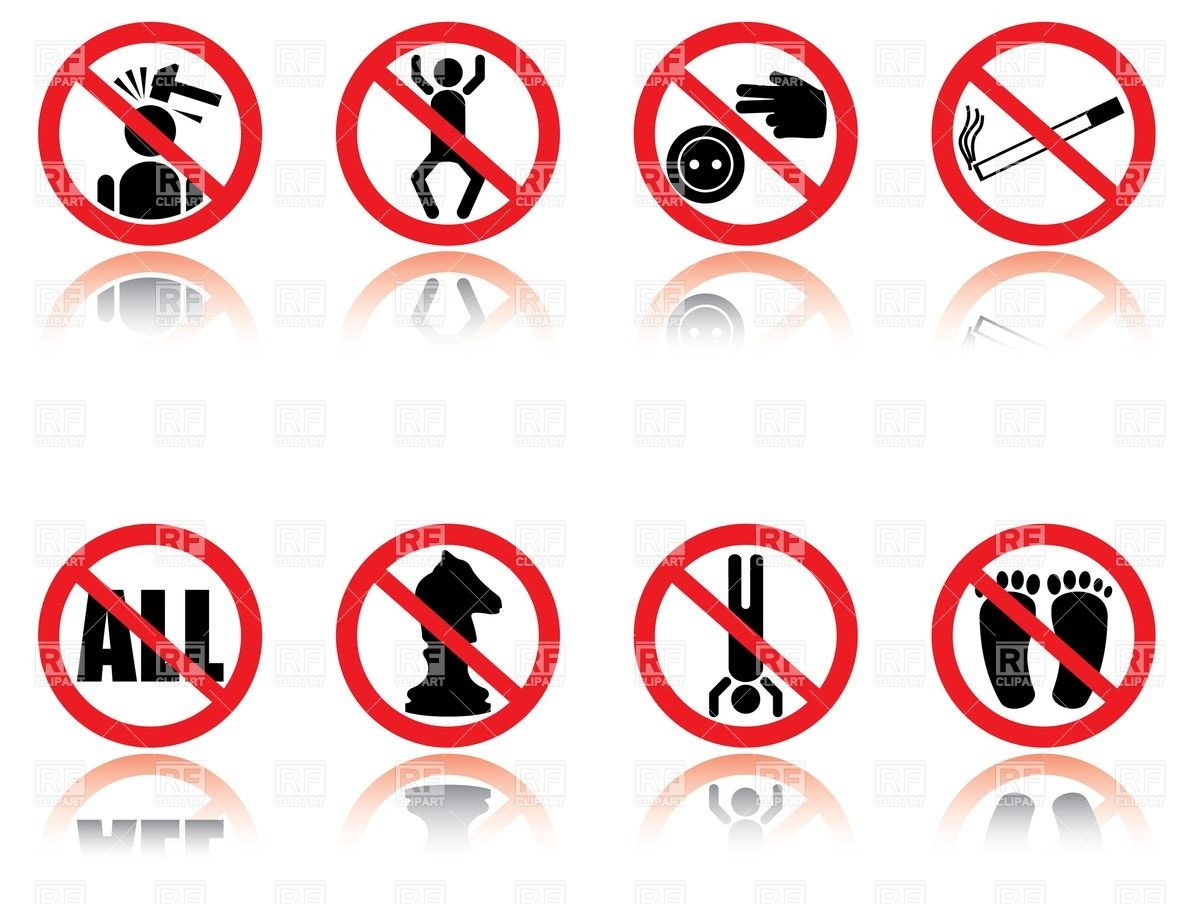 Funny prohibition signs Stock Vector Image.