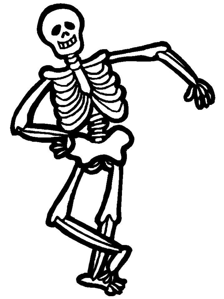 Halloween Skeleton Clipart Black And White.