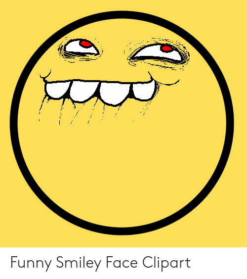 Funny Smiley Face Clipart.