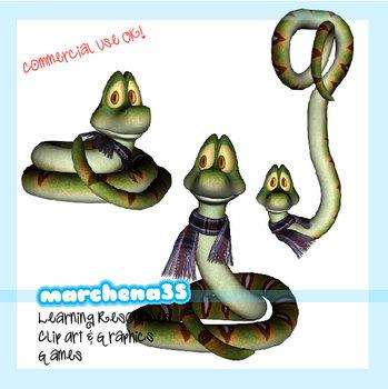 Funny Snake Clip Art for Teachers.