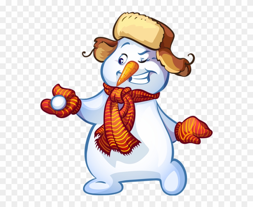 Funny Cartoon Snowman Clipart (#4013563).