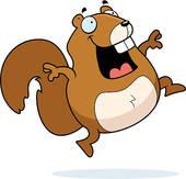Happy Squirrel Clip Art.