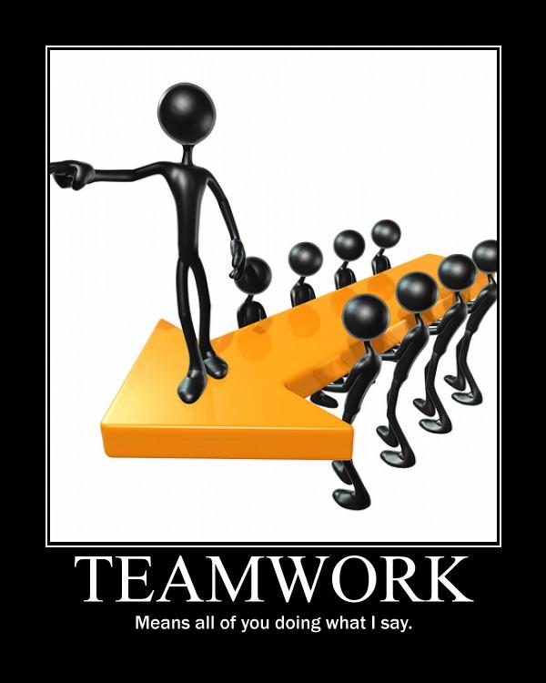 Teamwork Funny Clipart.