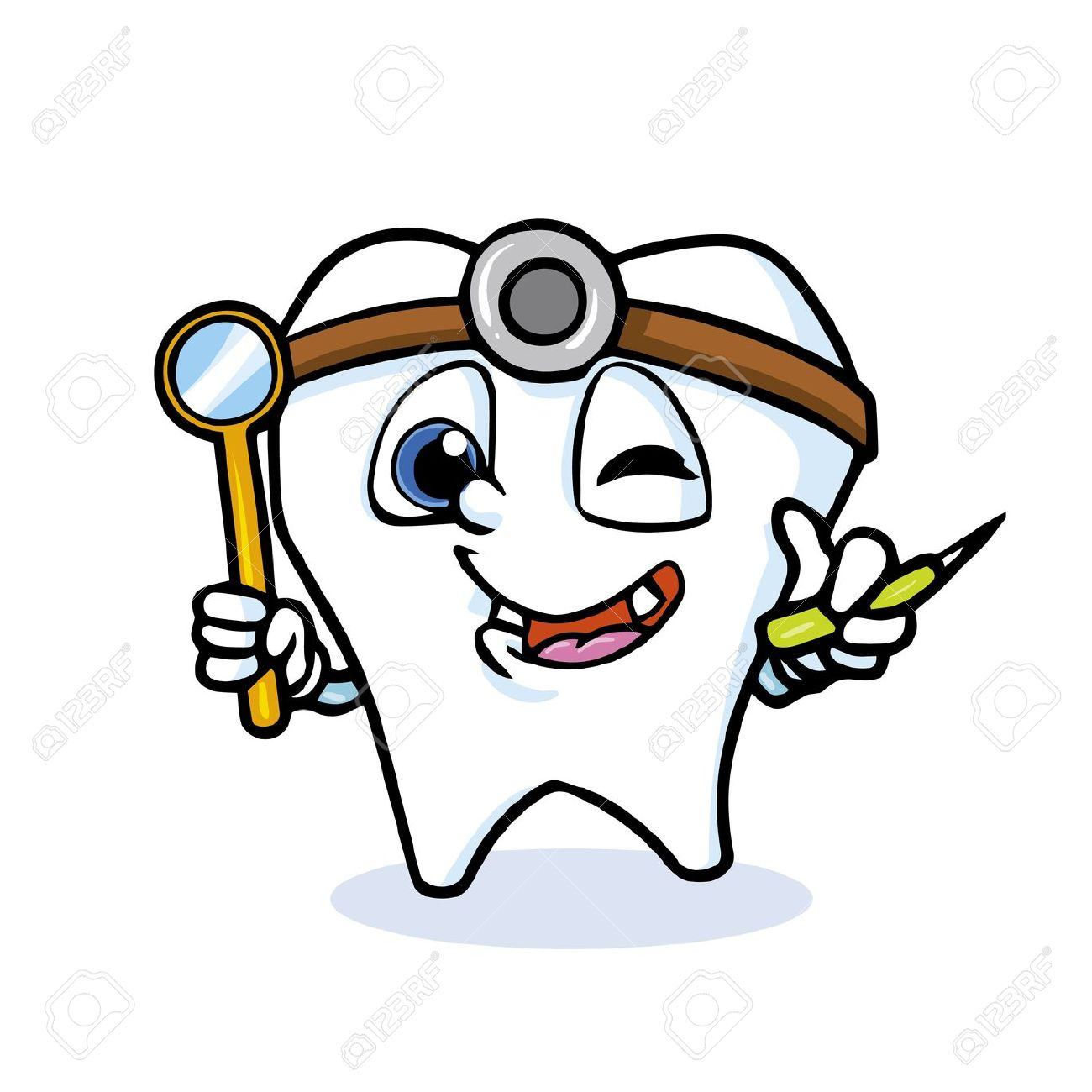 Funny dentist clipart.