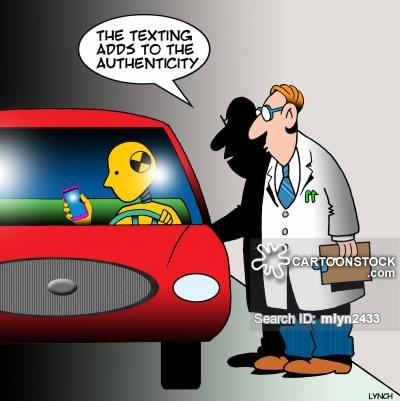 Texting While Driving Cartoons and Comics.